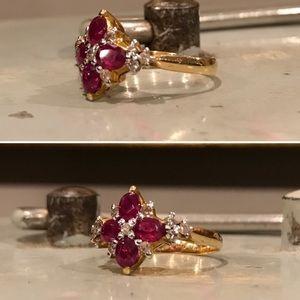 Genuine Burmese Ruby Ring